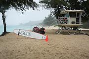 Oahu, Hawaii, USA Beach rescue station