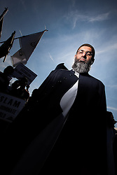© Licensed to London News Pictures . London , UK . ANJEM CHOUDARY at a Muslims Against Crusades demonstration in Walthamstow in London on 30th July 2011 . Photo credit : Joel Goodman/LNP