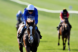 Nordic Lights ridden by jockey William Buick wins the British EBF bet365 'Confined' Novice Stakes during day three of The Bet365 Craven Meeting at Newmarket Racecourse.