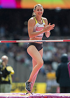Athletics - 2017 IAAF London World Athletics Championships - Day Two (AM Session)<br /> <br /> Event: High Jump Women - Heptathlon<br /> <br /> Carolin Schafer (GER) looks happy with her clearance  <br /> <br /> COLORSPORT/DANIEL BEARHAM