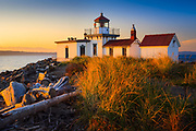 West Point lighthouse in Seattle's Discovery Park