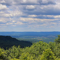 """""""Laurel Highland Summer"""" 2 <br /> <br /> Scenic Laurel Highlands in Ohiopyle PA.<br /> <br /> Beautiful mountains and valleys  and cloudscape on a lovely summer day!!<br /> <br /> Landscapes by Rachel Cohen"""