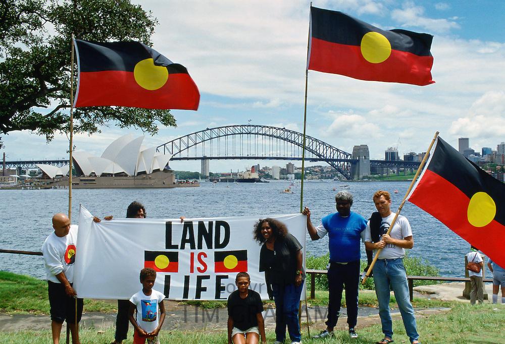 Aboriginal Land Rights Protest on Bicentennial Day, Sydney, Australia