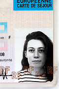 ID photo on a French residence card