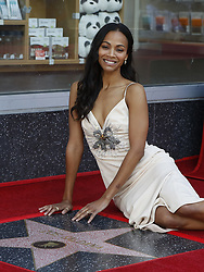 May 3, 2018 - Los Angeles, California, U.S - Actress ZOE SALDANA attends her star honoring ceremony on the Hollywood Walk of Fame. (Credit Image: © Ringo Chiu via ZUMA Wire)