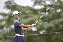 October 12, 2018 - Kuala Lumpur, Malaysia - Kim Meen-whee of South Korea hits a shot during the second round of 2018 CIMB Classic golf tournament in Kuala Lumpur, Malaysia on October 12, 2018. (Credit Image: © Zahim Mohd/NurPhoto via ZUMA Press)