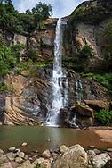 Ramboda Falls in Sri Lanka, located in the Pussellawa area near the A5 highway at Ramboda Pass.