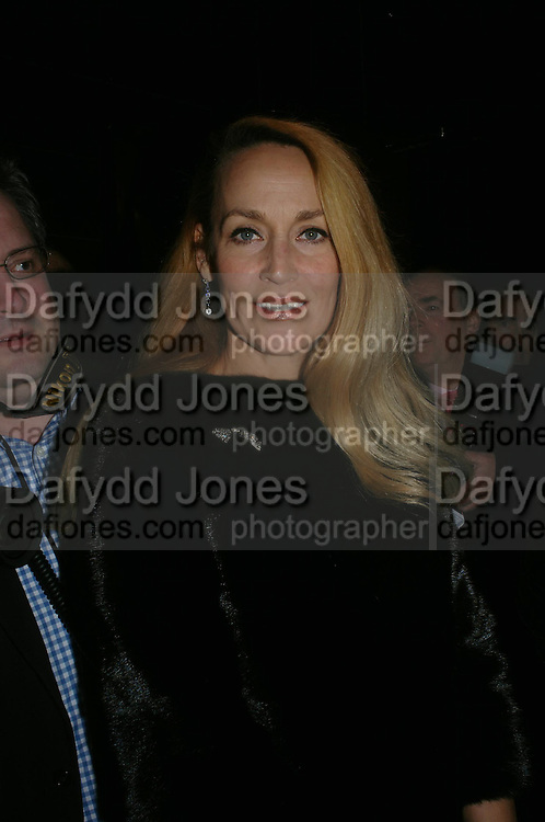 Jerry Hall. Whose Life is it Anyway? opening night performance at Comedy Theatre, Panton Street followed by Party at Mint Leaf. London. 26 January 2005. ONE TIME USE ONLY - DO NOT ARCHIVE  © Copyright Photograph by Dafydd Jones 66 Stockwell Park Rd. London SW9 0DA Tel 020 7733 0108 www.dafjones.com