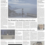 "Tearsheet of front page of ""Ireland razes ghosts of the housing crash"" published in the International New York Times"