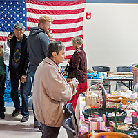 111513       Cable Hoover<br /> <br /> Vendors and visitors mingle and browse during the Recycled Arts & Crafts Show at the Gallup Community Service Center Saturday.
