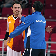 Galatasaray's Ender ARSLAN during their BEKO Basketball League derby match Galatasaray between Anadolu Efes at the Abdi Ipekci Arena in Istanbul at Turkey on Sunday, November 13 2011. Photo by TURKPIX
