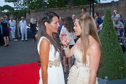 LIZZIE CUNDY; ELLEN RIVES, The Grand Prix Ball, before the Formula One,<br /> British Grand Prix at Silverstone,The Hurlingham Club, London. 7 July 2010. -DO NOT ARCHIVE-© Copyright Photograph by Dafydd Jones. 248 Clapham Rd. London SW9 0PZ. Tel 0207 820 0771. www.dafjones.com.