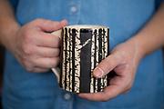Ceramic artist Faith Whittle in her studio in Farmington, Arkansas.<br /> <br /> Photo by Beth Hall