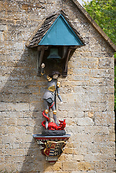 Statue of St George and the Dragon at Snowshill Manor