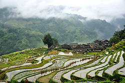 September 14, 2016 - China - Guizhou, CHINA-September 13 2016: (EDITORIAL USE ONLY. CHINA OUT) ..Traditional village of Miao minority group in Congjiang County, southwest China¬°¬Øs Guizhou Province. (Credit Image: © SIPA Asia via ZUMA Wire)