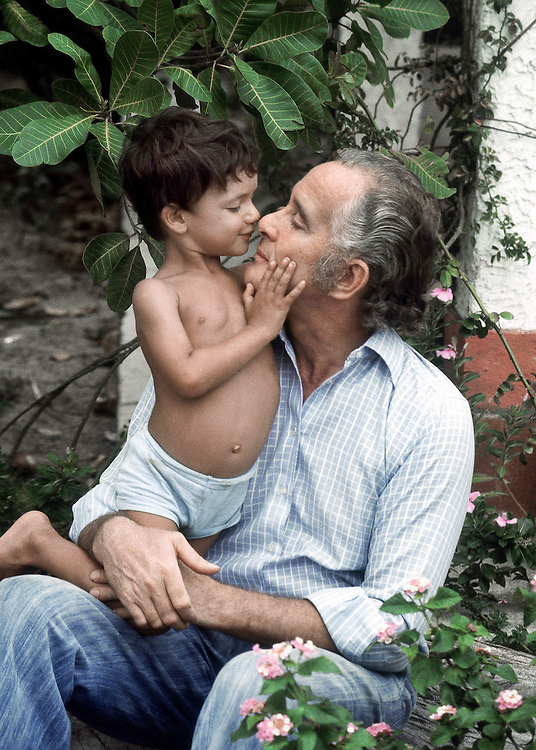 Great Train robber(1963) Ronald Biggs seen in Rio De Janeiro, Brazil with his young son Michael. 1978.<br /> Photographed by Terry Fincher