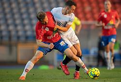 Anders Randrup (Hvidovre IF) kæmper med Sebastian Czajkowski (FC Helsingør) under kampen i 1. Division mellem Hvidovre IF og FC Helsingør den 15. september 2020 på Pro Ventilation Arena, Hvidovre Stadion (Foto: Claus Birch).