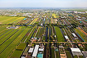 Nederland, Zuid-Holland, Boskoop, 23-05-2011; strokenverkaveling, tuinbouw, kwekerijen.Patchwork caused by land division with horticultural nurseries. .luchtfoto (toeslag), aerial photo (additional fee required).copyright foto/photo Siebe Swart