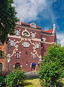 Ulica Retoryka 1 w Krakowie - kamienica Pod śpiewającą żabą, Polska<br /> Retoryka 1 Street in Cracow - tenement under the singing frog, Poland