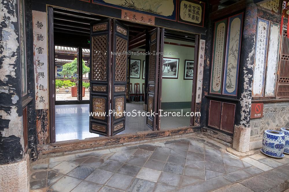 Interior of the Zhu Family house, Jianshui Ancient Town, Yunnan Province, China