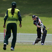 Haidee Tiffen battingduring the match between New Zealand and Pakistan in the Super 6 stage of the ICC Women's World Cup Cricket tournament at Drummoyne Oval, Sydney, Australia on March 19, 2009. New Zealand won the match by 223 runs .Photo Tim Clayton