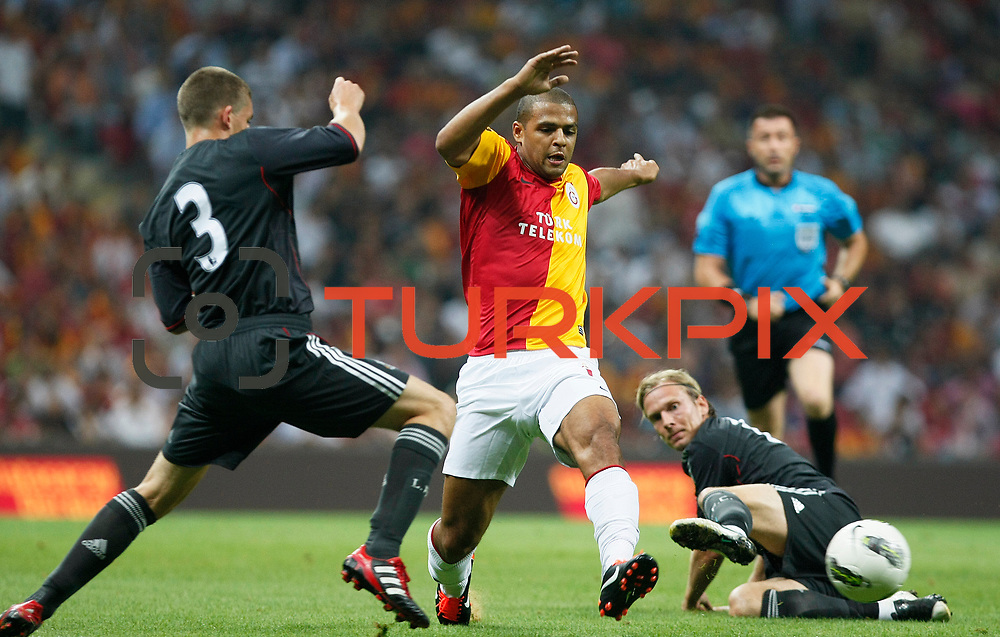 Galatasaray's Felipe MELO (C) during their Friendly soccer match Galatasaray between Liverpool at the TT Arena at Arslantepe in Istanbul Turkey on Saturday 28 July 2011. Photo by TURKPIX