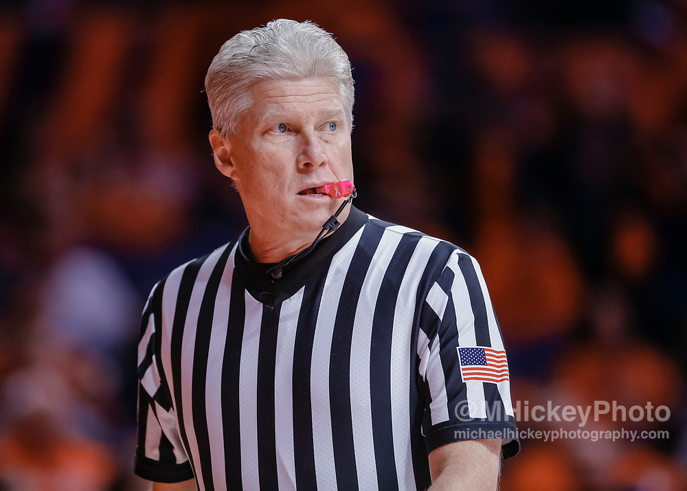 CHAMPAIGN, IL - JANUARY 23: NCAA referee Eric Curry is seen during the Illinois Fighting Illini and Wisconsin Badgers game at State Farm Center on January 23, 2019 in Champaign, Illinois. (Photo by Michael Hickey/Getty Images) *** Local Caption *** Eric Curry