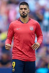 September 18, 2018 - Barcelona, Barcelona, Spain - Luis Suarez of FC Barcelona during the UEFA Champions League group B match between FC Barcelona and PSV Eindhoven at Camp Nou on September 18, 2018 in Barcelona, Spain  (Credit Image: © Sergio Lopez/NurPhoto/ZUMA Press)