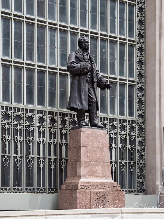 Statue of Cornelius Vanderbilt at Grand Central Terminal