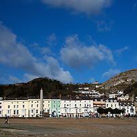 Europe, United Kingdom, Wales, Llandudno. Llandudno Beach and town.