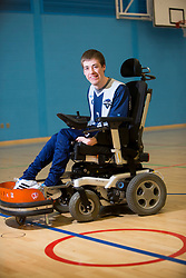 Chris Jacquin, training with the Lothian Wolves Powerchair Football Club at the Oriam Sports complex at Heriot Watt.