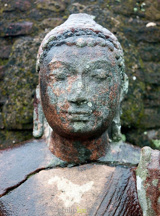 Statue of Buddha at the ancient city of Polonnaruwa, Sri Lanka