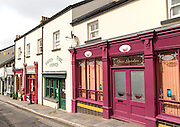 Modern shops in Broad Street, Blaenavon World Heritage town, Torfaen, Monmouthshire, South Wales, UK