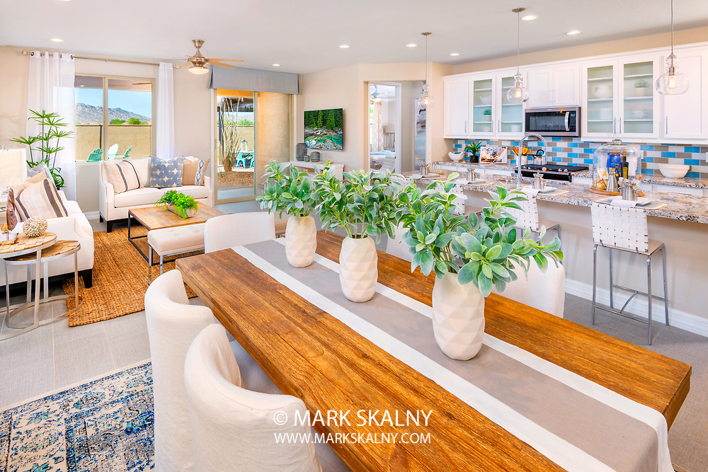I loved the warmth and brightness of this living space. The interior design and color palettes really enhanced the beauty of this space even more. This was a delightful room to photograph.<br /> <br /> Architectural Photography by Mark Skalny <br /> 1-888-658-3686  <br /> #AZPhotographer<br /> #CorporatePhotographerPhoenix