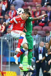 June 14, 2018 - Moscow, Russia - 14 June 2018, Russia, Moscow, FIFA World Cup, First Round, Group A, First Matchday, Russia vs Saudi Arabia at the Luzhniki Stadium. Player Fedor Smolov  (Credit Image: © Russian Look via ZUMA Wire)