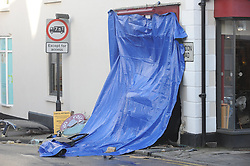 © Licensed to London News Pictures. 24/12/2015<br /> Costa Coffee car crash Westerham in Kent. Six people taken to hospital.<br /> (Byline:Grant Falvey/LNP)