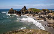 Coastal scenery near Kynance Cove, Lizard Peninsula, Cornwall, England, UK