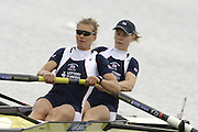 Munich, GERMANY, 2006, FISA, Rowing, World Cup, GBR W2- Bow Katie Greves and Elise Laverick,  held on the Olympic Regatta Course, Munich, Thurs. 25.05.2006. © Peter Spurrier/Intersport-images.com,  / Mobile +44 [0] 7973 819 551 / email images@intersport-images.com.[Mandatory Credit, Peter Spurier/ Intersport Images] Rowing Course, Olympic Regatta Rowing Course, Munich, GERMANY