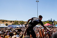 Metalcore band We Came As Romans performs during the 2013 Vans Warped Tour. Lead singer Kyle Pavone joined the crowd during the Michigan bands set.