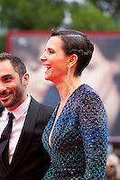 Actress Juliette Binoche and director  Piero Messina at the gala screening for the film L'attesa at the 72nd Venice Film Festival, Saturday September 5th 2015, Venice Lido, Italy.