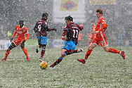 Scunthorpe United midfielder Josh Morris (11) attacking  during the EFL Sky Bet League 1 match between Scunthorpe United and Shrewsbury Town at Glanford Park, Scunthorpe, England on 17 March 2018. Picture by Mick Atkins.