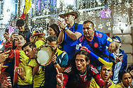 Ambiance Colombia fans at Nikolskaya Plaza during the 2018 FIFA World Cup Russia on June 13, 2018 in Moscow, Russia - Photo Thiago Bernardes / FramePhoto / ProSportsImages / DPPI