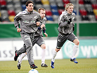 Fotball, 10. februar 2009 ,Trening foran privat-kampen mellom Norge og Tyskland<br /> Martin Andresen , Christian Grindheim , Erik Huseklepp
