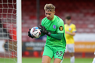 Brighton and Hove Albion goalkeeper Carl Rushworth (62) during the EFL Trophy Southern Group G match between AFC Wimbledon and Brighton and Hove Albion U21 at The People's Pension Stadium, Crawley, England on 22 September 2020.