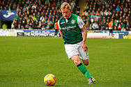 Daryl Horgan of Hibernian FC on the ball during the Ladbrokes Scottish Premiership match between St Mirren and Hibernian at the Simple Digital Arena, Paisley, Scotland on 29th September 2018.