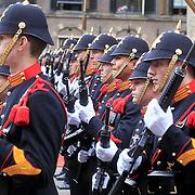 NLD/Den Haag/20110920 - Prinsjesdag 2011, korps mariniers met hun vaandel
