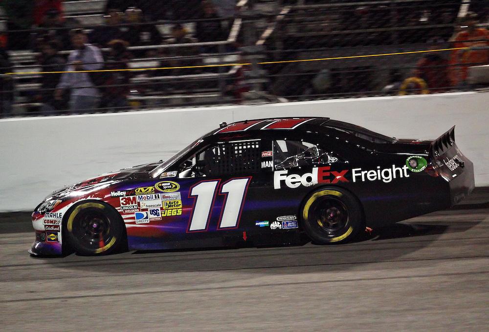Apr 28, 2012; Richmond, VA, USA; NASCAR Sprint Cup driver Denny Hamlin (11) during the Capital City 400 at Richmond International Raceway. Mandatory Credit: Peter Casey-US PRESSWIRE.