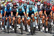 Omar Fraile (ESP - Astana Pro Team) - Michael Valgren (DEN - Astana Pro Team) during the Tour de France 2018, Stage 4, Team Time Trial, La Baule - Sarzeau (195 km) on July 10th, 2018 - Photo Luca Bettini / BettiniPhoto / ProSportsImages / DPPI