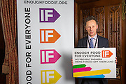 John Pugh MP supporting the Enough Food for Everyone?IF campaign. .MP's and Peers attended the parliamentary launch of the IF campaign in the State Rooms of Speakers House, Palace of Westminster. London, UK.