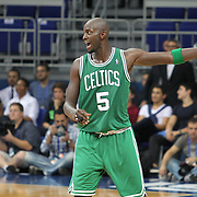 Boston Celtics's Kevin Garnett during their NBA Europe Live 2012 The four-game tour tips match Fenerbahce Ulker between Boston Celtics at Fenerbahce Ulker Sports Arena in Istanbul, Turkey, Friday, October 05, 2012. Photo by TURKPIX